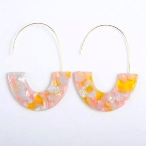 Jewelry - Pink and Peach Acrylic Earrings